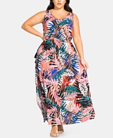 City Chic Plus Size Copacabana Sleeveless Maxi Dress