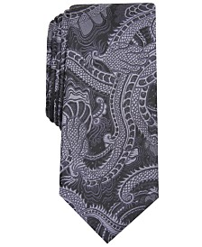 I.N.C. Men's Tattoo Art Skinny Tie, Created for Macy's