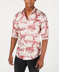 I.N.C. Men's Chambray Floral Shirt, Created for Macy's
