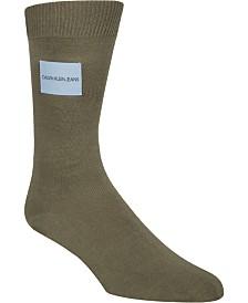 Calvin Klein Jeans Men's Logo-Patch Crew Socks