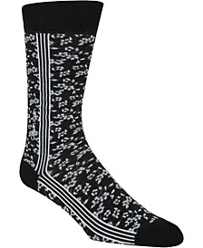 Floral Striped Crew Socks
