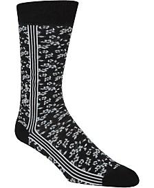 Calvin Klein Floral Striped Crew Socks