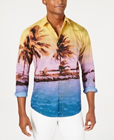 I.N.C. Men's Scenic Tropical Shirt, Created for Macy's