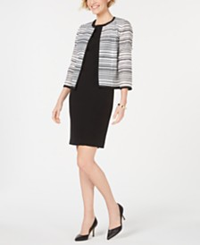 Kasper Open-Front Blazer & Sheath Dress