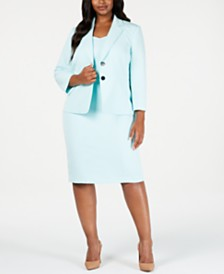Kasper Plus Size Two-Button Jacket & Sheath Dress