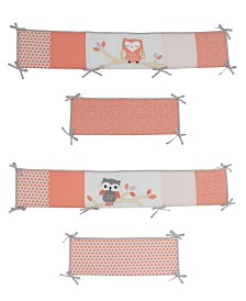 Lambs & Ivy Family Tree Owl 4-Piece Baby Crib Bumper