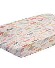 Family Tree Leaf Print Baby Changing Pad Cover