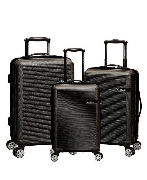 a5f5909de Rockland Skyline 3 Piece ABS Non-Expandable Luggage Set & Reviews ...
