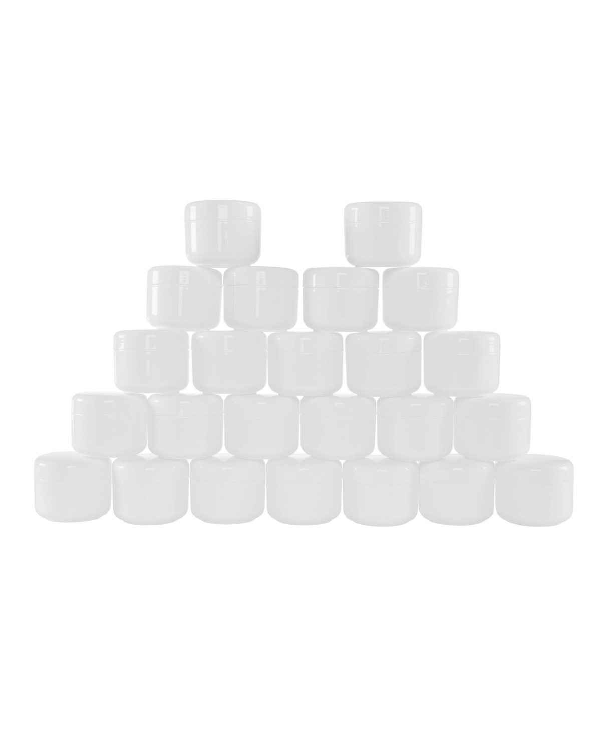Trademark Global 2 Ounce Plastic Jar Containers, 24 Pack of Storage Jars with Inner and Outer Lid by Stalwart