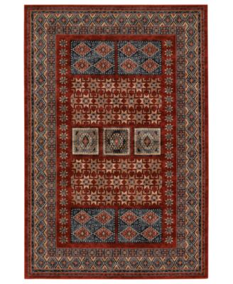 couristan rugs timeless treasures royal kazak burgundy - Couristan Rugs