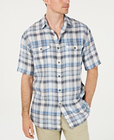 Pendleton Men's Malone Plaid Linen Shirt
