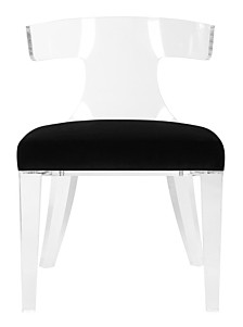 Rhys Acrylic Side Chair, Quick Ship