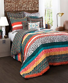 Boho Stripe 7-Pc. Full/Queen Comforter Set