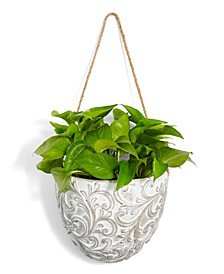 La Dolce Vita Embossed Hanging Planter