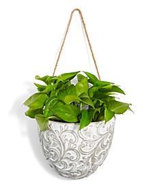 CLOSEOUT! La Dolce Vita Embossed Hanging Planter