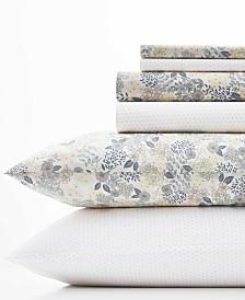 Laura Ashley Sugar Almond Floral/Dots Sheet Set, Queen