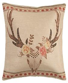 HiEnd Accents Burlap 22X22 Pillow