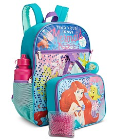 Bioworld Little & Big Girls 5-Pc. Little Mermaid Backpack & Lunch Kit Set