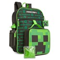 Bioworld Little & Big Boys 5 Piece Minecraft Backpack & Lunch Kit Set