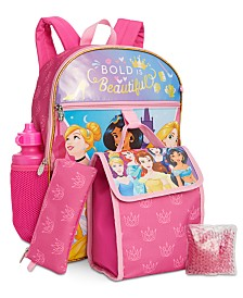 Bioworld Little & Big Girls 5-Pc. Disney Princesses Backpack & Lunch Kit Set