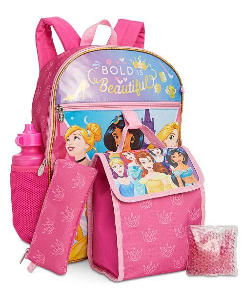 be087eba598 ... Bioworld Little & Big Girls 5-Pc. Disney Princesses Backpack & Lunch ...
