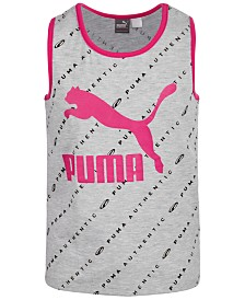 Puma Big Girls Printed Logo Tank Top