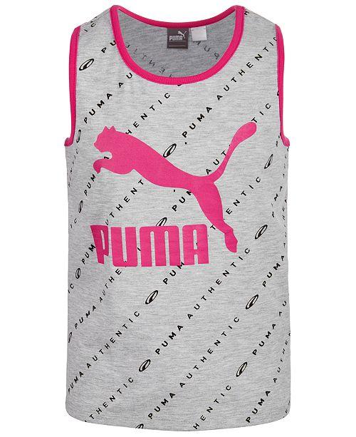 Puma Big Girls Printed Logo Tank Top