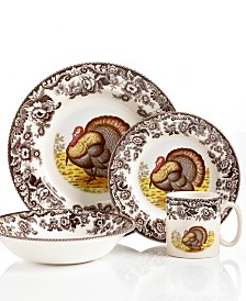 Spode Dinnerware, Woodland Turkey Collection