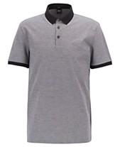 2378c449 BOSS Men's Prout 16 Regular-Fit Cotton Polo Shirt