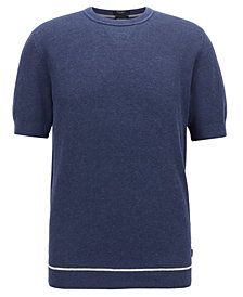 BOSS Men's Forte Short-Sleeved Cotton Sweater