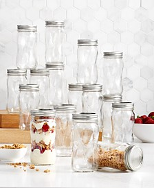 Ball Jar Pint Mason Spiral Jars, 16-Pc. Set