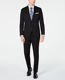 Kenneth Cole Unlisted Men's Slim-Fit Black Solid Suit