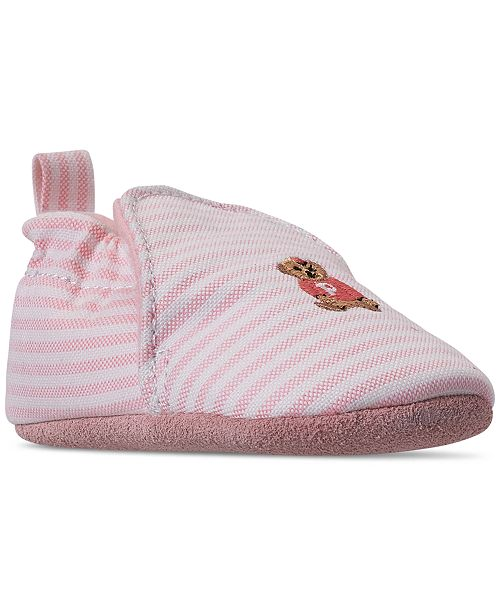 Polo Ralph Lauren Baby Girls' Percie Layette Oxford Slip-On Booties from Finish Line