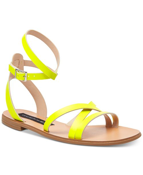 804b42174 STEVEN by Steve Madden Women's Matas Strappy Flat Sandals & Reviews ...
