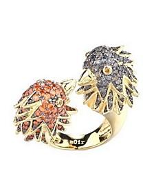 Multi-Colored Cubic Zirconia Bird Cocktail Ring