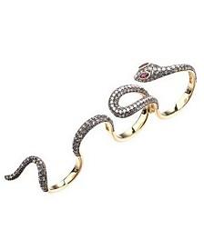 Noir Multi Finger Cubic Zirconia Snake Ring