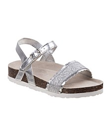 Every Step Glitter Cork Lining Sandals