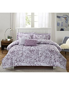 Amanda 5-Piece Comforter Set, Full/Queen