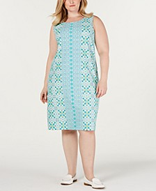 Plus Size Printed Shift Dress, Created for Macy's