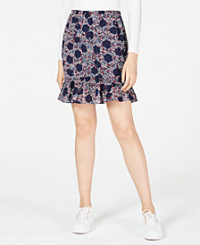 Maison Jules Ruffled Floral-Print Skirt, Created for Macy's