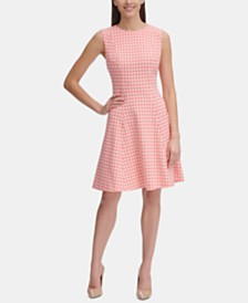 Tommy Hilfiger Petite Gingham Fit & Flare Dress