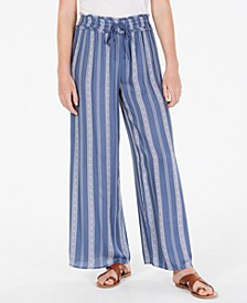 Juniors' Printed Wide-Leg Soft Pants, Created for Macy's