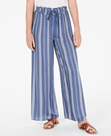 American Rag Juniors' Printed Wide-Leg Soft Pants, Created for Macy's