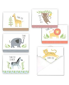 Jungle Animals Note Cards Assortment