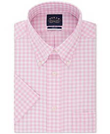 Men's Classic/Regular Fit Button Down Non-Iron Stretch Short Sleeve Dress Shirt