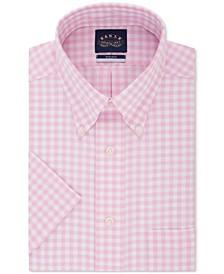 Men's Classic/Regular Fit Button Down Non-Iron Stretch Short Sleeve Dress Shirt