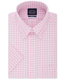 Eagle Men's Classic/Regular Fit Button Down Non-Iron Stretch Short Sleeve Dress Shirt