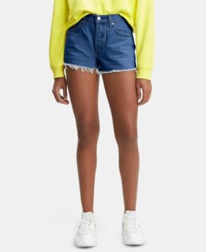 Levi's Shorts 501 COTTON HIGH-RISE DENIM SHORTS