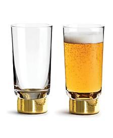 Sagaform Club Gold Tumbler Glass, 2 Pack