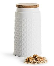 Storage Jar with Oak Lid Tall
